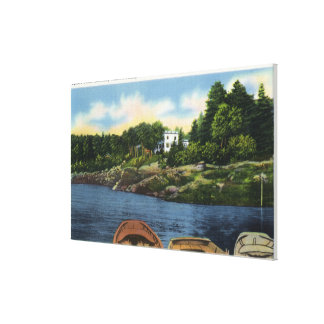 View of Spruce Point Canvas Print