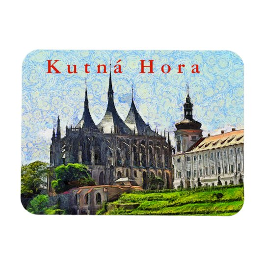 View of St. Barbara's Cathedral in Kutná Hora. Magnet