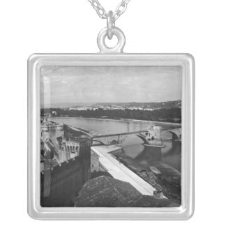 View of St. Benezet Bridge Silver Plated Necklace