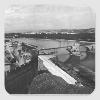 View of St. Benezet Bridge Square Sticker