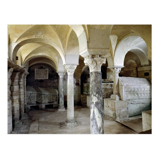 View of St. Paul's Crypt, c.634 AD Postcard