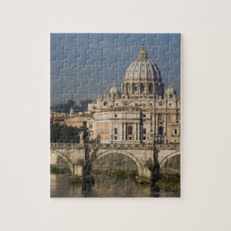 View of St Peter's with the Ponte sant' Angelo Jigsaw Puzzle