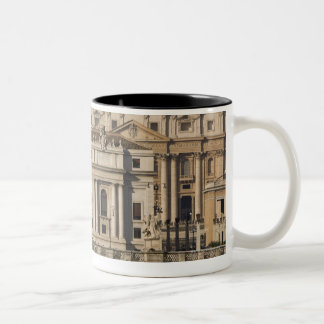 View of St Peter's with the Ponte sant' Angelo Two-Tone Coffee Mug
