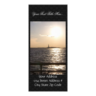 View Of Statue Of Liberty From Near The Staten Isl Rack Card Template