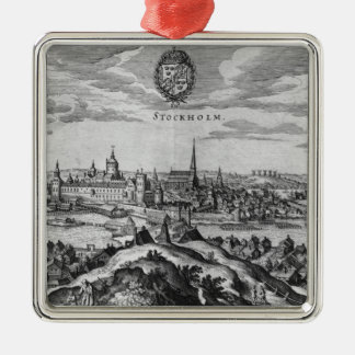 View of Stockholm Christmas Ornament