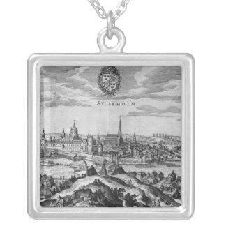 View of Stockholm Silver Plated Necklace