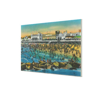View of Swimmers at the Washington Baths Canvas Print