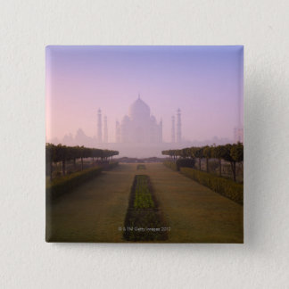 View of Taj Mahal at Sunrise 15 Cm Square Badge