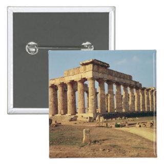 View of Temple E, c.490-480 BC 15 Cm Square Badge
