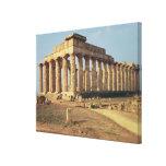 View of Temple E, c.490-480 BC Canvas Prints