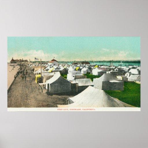 View of Tent CityCoronado, CA Posters