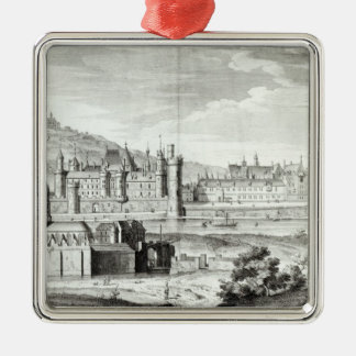 View of the Abbey of Saint-Germain-des-Pres Christmas Ornament