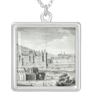 View of the Abbey of Saint-Germain-des-Pres Silver Plated Necklace