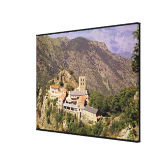 View of the Abbey of St. Martin du Canigou Gallery Wrap Canvas