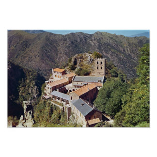 View of the Abbey of St. Martin du Canigou Poster