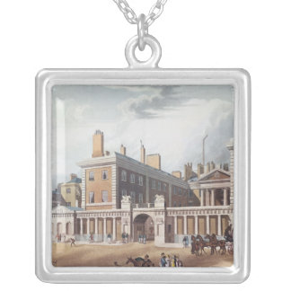 View of the Admiralty, 1818 Silver Plated Necklace