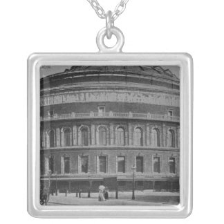 View of the Albert Hall, c.1900 Silver Plated Necklace