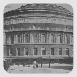 View of the Albert Hall, c.1900 Square Sticker