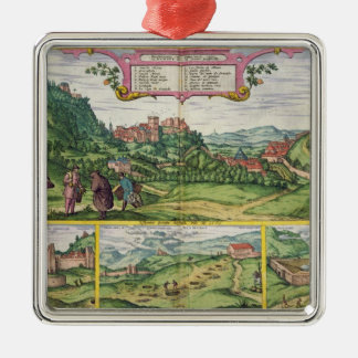 View of the Alhambra, from 'Civitates Orbis Terrar Christmas Ornament