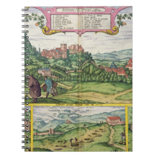 View of the Alhambra, from 'Civitates Orbis Terrar Notebooks