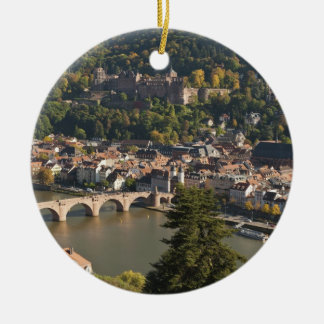 View of the Alte Brucke or Old Bridge Christmas Ornament