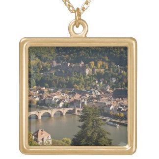 View of the Alte Brucke or Old Bridge Gold Plated Necklace