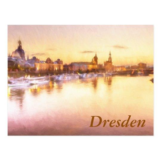 View of the Altstadt over the Elbe in Dresden Postcard