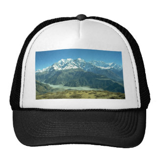 View of the Annapurna Himal from the base of Dhaul Trucker Hat