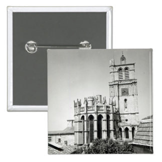 View of the apse and the tower, built 15 cm square badge