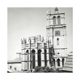 View of the apse and the tower built canvas prints