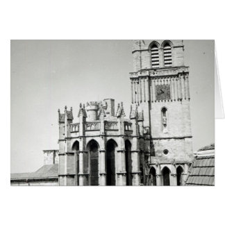 View of the apse and the tower, built greeting cards