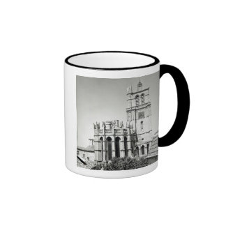 View of the apse and the tower, built coffee mug