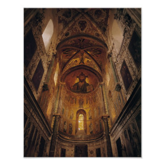 View of the apse with the Christ Pantocrator Poster