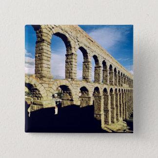 View of the aqueduct 15 cm square badge