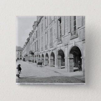 View of the arcade of Place des Vosges 15 Cm Square Badge