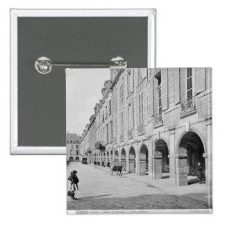 View of the arcade of Place des Vosges 15 Cm Square Badge