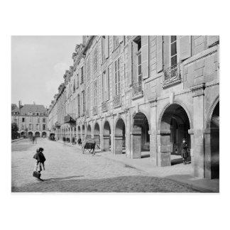View of the arcade of Place des Vosges Postcard