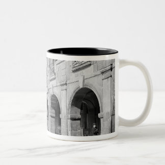 View of the arcade of Place des Vosges Two-Tone Mug