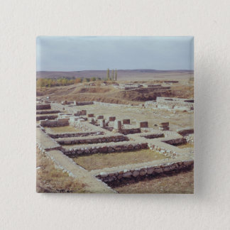 View of the archaeological site, 1450-1200 BC 15 Cm Square Badge