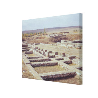 View of the archaeological site, 1450-1200 BC Canvas Print