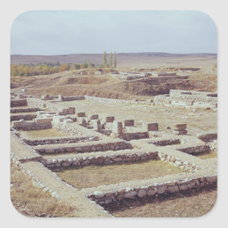 View of the archaeological site, 1450-1200 BC Square Sticker