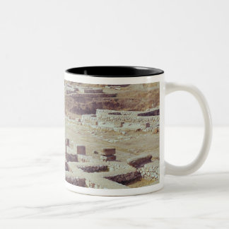 View of the archaeological site, 1450-1200 BC Two-Tone Coffee Mug