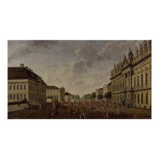 View of the armory and Unter den Linden Street Poster