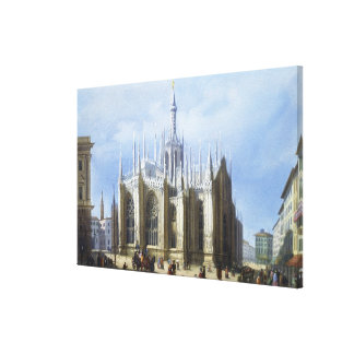 View of the back of Milan Cathedral from 'Views of Canvas Print