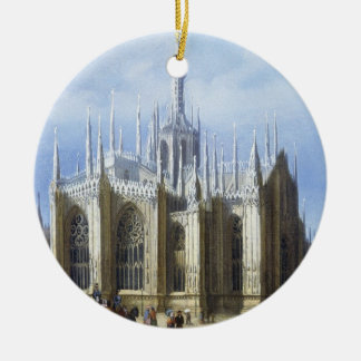 View of the back of Milan Cathedral from 'Views of Round Ceramic Decoration