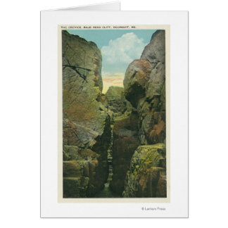 View of the Bald Head Cliff Crevice Greeting Card