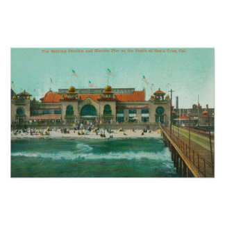 View of the Bathing Pavilion and Electric Pier Poster