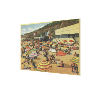 View of the Beach with Clubs and Homes Gallery Wrapped Canvas