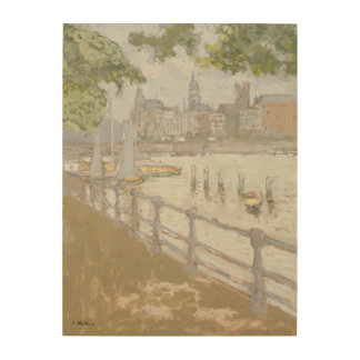 View of the Binnenalster, 1913 Wood Wall Decor