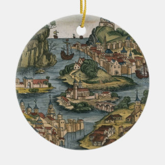 View of the Bosporus entering from the Black Sea, Christmas Ornament